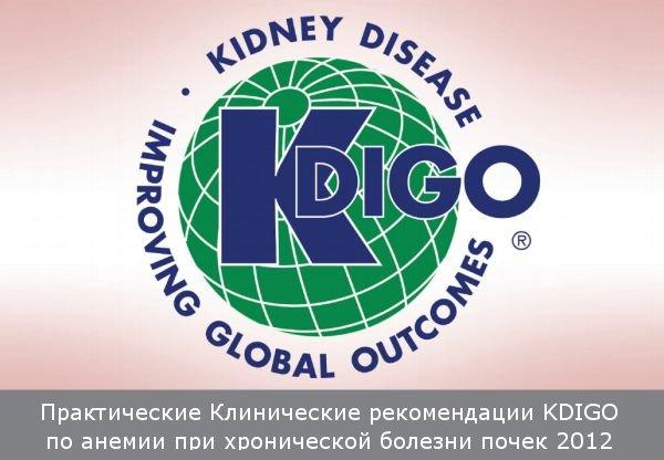 Перевод рекомендаций KDIGO по диагностике и лечению анемии при хронической болезни почек на русский язык
